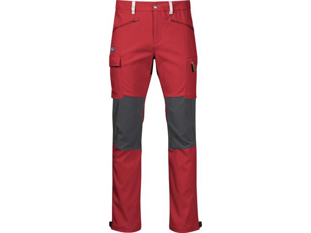Bergans Nordmarka Hybrid Pantalon Homme, red sand/solid dark grey